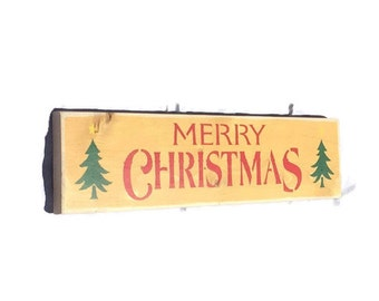 Merry Christmas Sign - Holiday Wood Sign - Christmas Gift For Boss - Teacher Gifts - Farmhouse Decor - Holiday Decoration - Front Door Sign