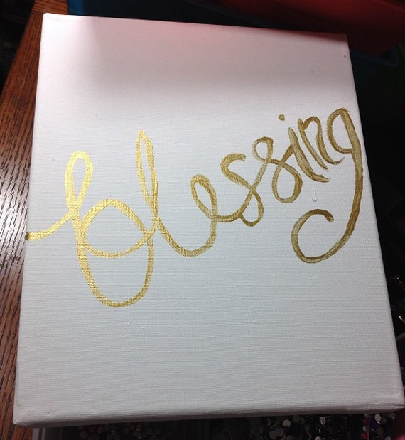 Blessing Canvas Quote Art Wall Home Decor by ArtsofLove77