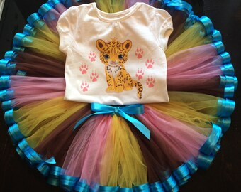 Baby Jaguar custom ribbon tutu set