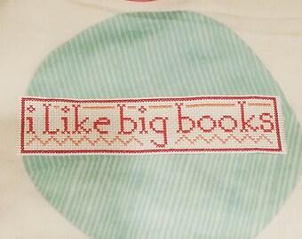I like big books bookmark