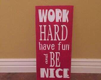 Work Hard Have Fun Etsy