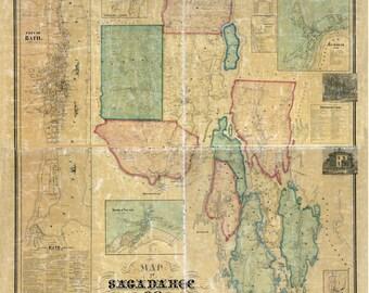 1858 Map of Sagadahoc County Maine