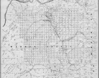 1881 Oil Well Map of McKean Warren Forest & Elk Counties PA
