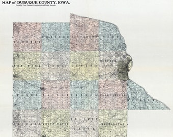 1900 Map of Dubuque County Iowa