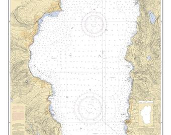 2004 Map of Lake Tahoe California Nevada