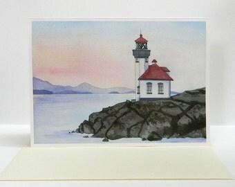 San Juan Island's Lighthouse Greeting Card