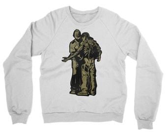 Activist Street Art Raglan Sleeve Sweater - Human Rights Street  Graphic Jumper