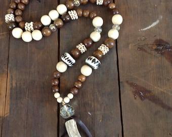 Cristals horn necklace
