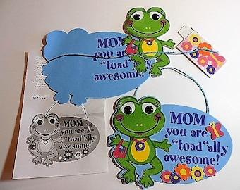 Kids craft kit - Frog Mother's Day sign kit