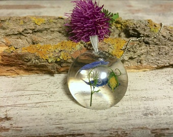 Delicate blue pendant