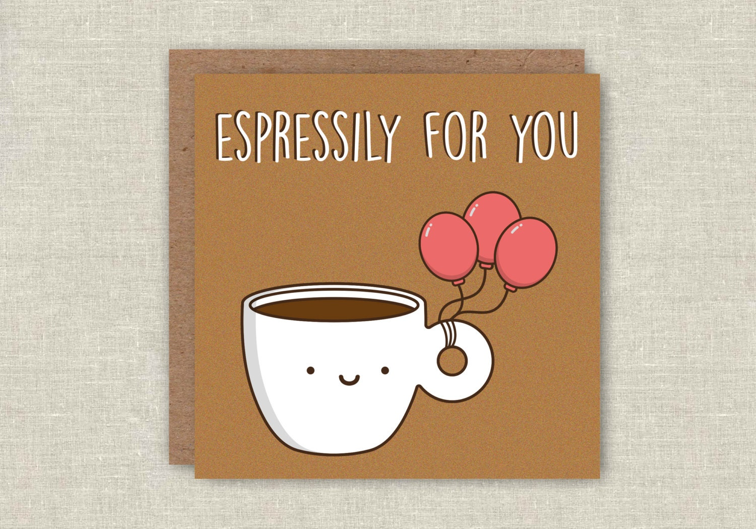 funny card funny birthday card coffee card espresso card, Birthday card