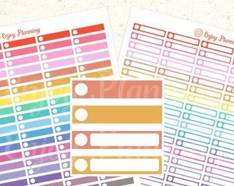 PRINTABLE Bright Color Planner Stickers Circle, Planner Stickers, Rainbow Stickers, Stickers Erin Condren, Digital Planner Stickers