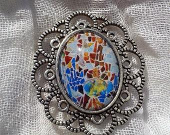 Brooch silver with filigree TRENCADÍS - BRTR01