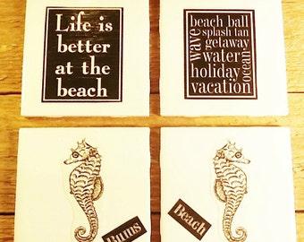 Beach Nautical Theme Coasters Seaside Resort Decor By Sweet Beaches