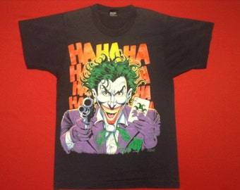 vintage JOKER hahaha marvel comic BATMAN 90's t-shirt