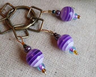 Set of 5 Purple Stitchmarkers Stitchmarkers/Beaded Stitchmarkers/Knitting Stitchmarkers/Crochet Stitchmarkers