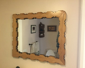 Antique Spindle Mirror / Picture Frame