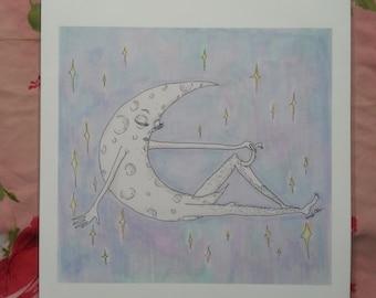 Waxing Moon Large Print