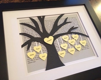 Wedding Gifts For Parents Ireland : ... Tree Wall Art, Anniversary Gift, Christmas Gift, Blended Family Tree