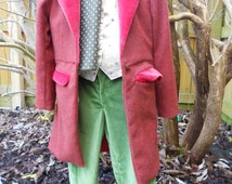 Bilbo Baggins-Style Outfit. Hobbit Costume. Childrens Fancy Dress. World Book Day. Wool and Velvet Jacket.  Also Available for Hire.