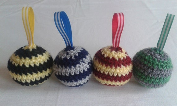 Harry Potter Inspired Crochet Baubles (Set of Four)
