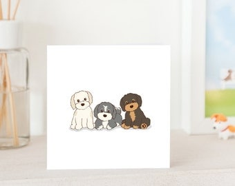 Dog Greeting Card - The Havaneses, Cute Havanese Puppies Card, Havanese Card, All Occasion Card, Cute card for Havanese Lover