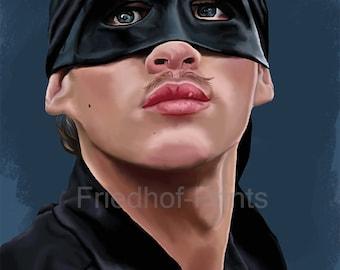 Dread Pirate Roberts / Princess Bride / Heavy Card Stock / Digital Painting / portrait / Digital art / high quality print / Wall Art/ 8x10