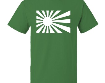 Rising Sun Japan Flag T-shirt 100% cotton