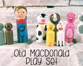 Old MacDonald Peg Doll Playset
