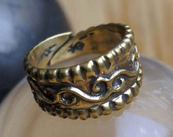 Medieval ring. Replica rings Russia 11-12 centuries. Ring with floral ornaments. Ring for women