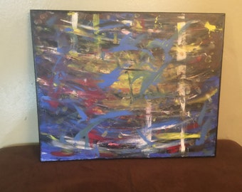 Handmade Acrylic painting/Abstract
