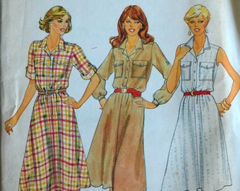 Uncut 1970s Butterick Vintage Sewing Pattern 4202, Size 6-8-10; Misses' Dress