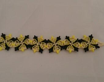 Yellow Black Sword Bracelet