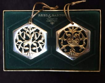 Reed and Barton, 12 Days of Christmas Ornaments