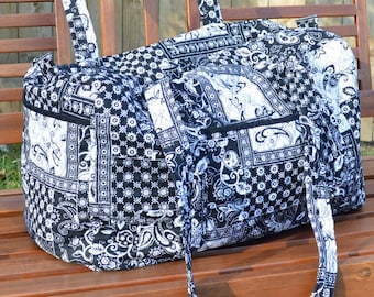 Black and White Duffel, Quilted