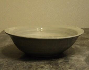 Swirled Grey High Fire Stoneware Bowl