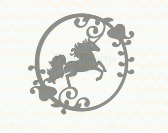 Unicorn SVG template, new baby ,commercial use, papercut template, unicorn cutting file, silhouette file, cricut file, unicorn