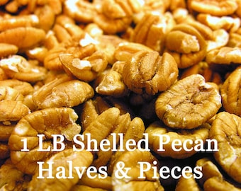 1 lb shelled pecan halves and pieces