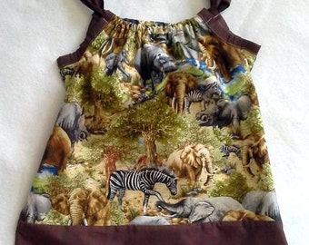 Jungle Safari Pillow Case Dress