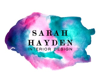 Premade watercolour logo design | Interior design logo | predesigned logo