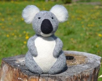 Needle felted koala