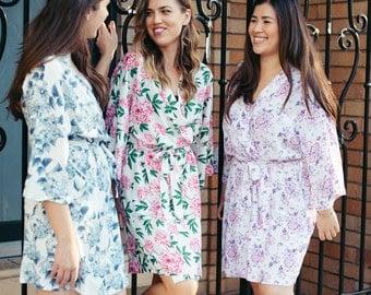 Bridesmaids Floral Robe - Digital Prints