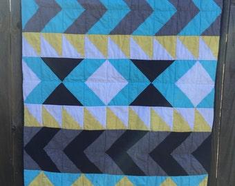 Aztec Print Baby Quilt