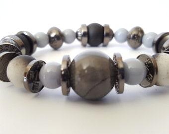 Black/Grey Beaded Bracelet