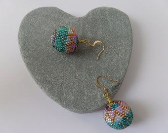 Bead crochet earrings