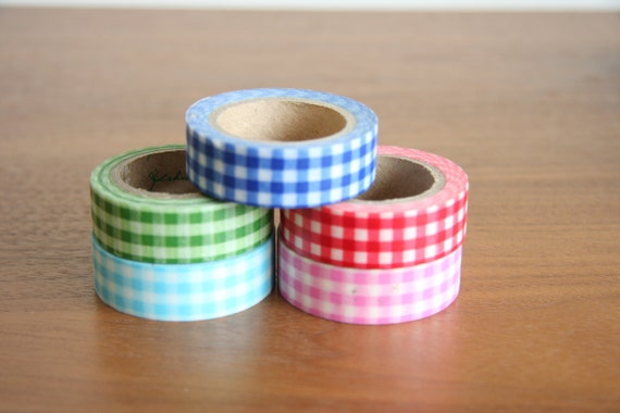 Checkered washi tape set geometric washi tape green washi for Geometric washi tape designs