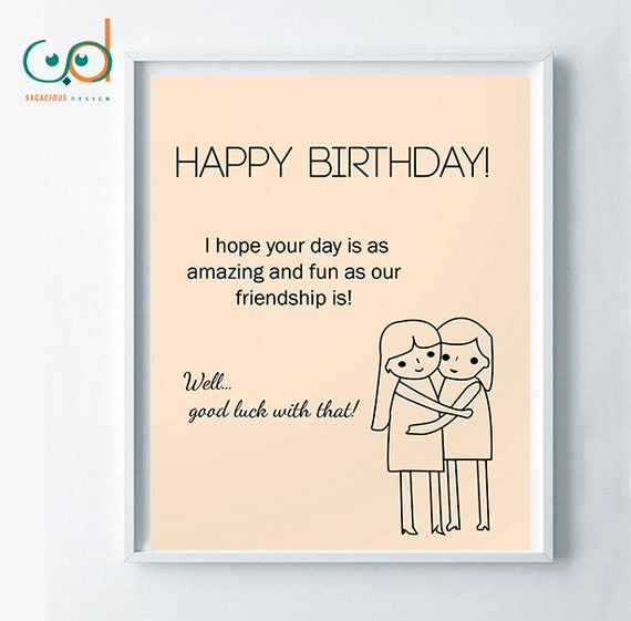 Items Similar To Happy Birthday Cute Card, Girls Best
