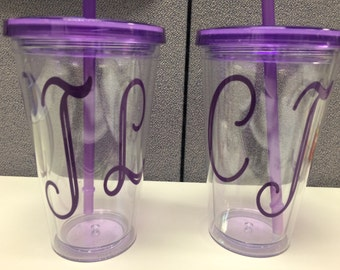 Personalized Tumblers with straws!!!
