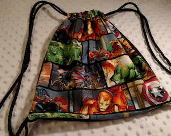 Drawstring Backpack, The Avengers Drawstring Backpack! *REDUCED PRICES*