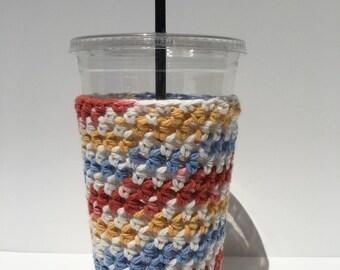 Crochet Iced coffee coozie